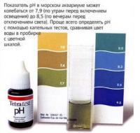 Диапазон pH для морской воды