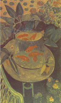 Картина. Красные рыбки