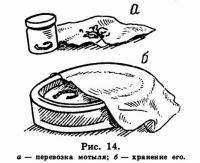 Рис. 14. Перевозка и хранение мотыля