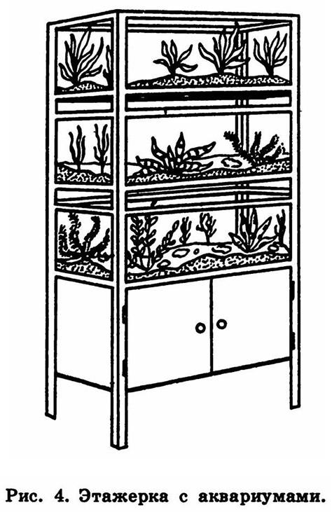 Рис. 4. Этажерка с аквариумами