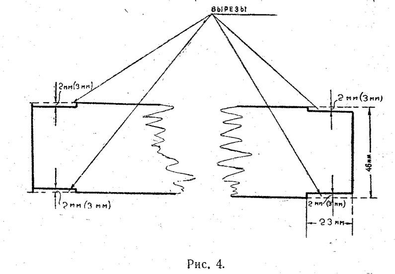 Рис. 4. Вырезы на полосах