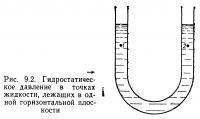 Рис. 9.2. Гидростатическое давление в точках жидкости