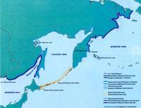 Рис.1. Деление побережья дальневосточных морей