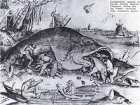 Сатирическая гравюра «Большие рыбы пожирают малых»