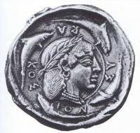 Серебряный медальон. Сицилия. Серакузы. XV в.